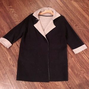 Two ton cardigan with pocket